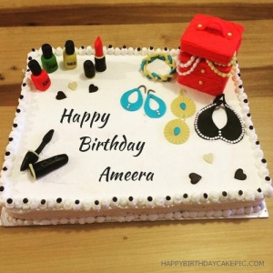 Ameera Cosmetics Happy Birthday Cake