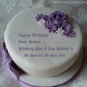 Happy Birthday Susana Cake